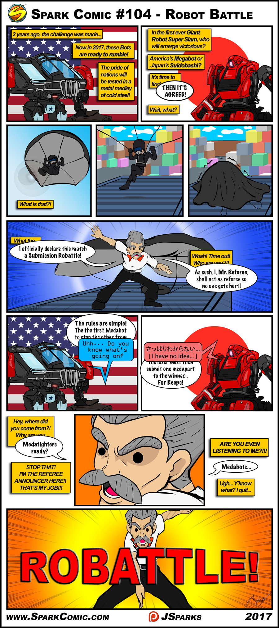 Spark Comic #104 - Robot Battle